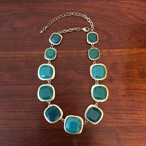 Blue/Green Faux Stone Necklace